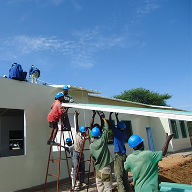 Install roof panel